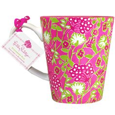 Lilly Pulitzer Cafe Lilly Mug - Bloomers. for the day of the wedding when the bridesmaids and bride are getting ready #LillyPulitzer #SouthernWeddings