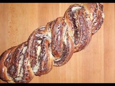 The German Hefezopf with a nuts filling or Sweet Braided Nut Bread is delicious, made out of yeast dough. This is an authentic German recipe. German Bread, German Baking, Sully Cake, How To Cook Beef, Best Meat, Challah, Cookie Desserts, Sweet Bread, Naan