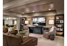 Decorating a basement is kind of like playing with magic — if you try the right tips you can make a seemingly small space feel large, bright and full of energy.