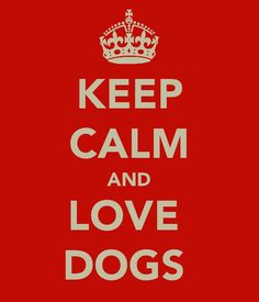 ....and love dogs.