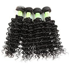 Golden Rule Hair Virgin Brazilian Hair Deep Wave Human Hair Extensions Unprocessed Remy Hair Weave Natural Color 400g 4 Bundles 16 18 20 22 ** Read more at the affiliate link Amazon.com on image.