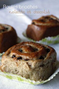 Roulés briochés, noisette chocolat et crème pâtissière (sans lactose) – Mes brouillons de cuisine