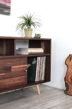 Record Storage Console by jeremiahcollection on Etsy