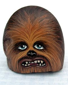 Chewbacca painted on rock by Nevuela on DeviantArt