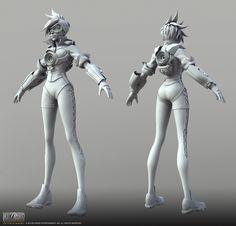 Tracer FullCam by DimensionalDrift on deviantART #overwatch cinematic model. Character design by Arnold Tsang.