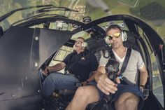 Sébastien Loeb flies helicopters at Hangar-7