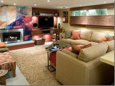 A Full guide for Placing Your TV - The living room is a space that is used extensively by all members of a family, so it should be comfortable and durable. While designing your living room furniture, look for fabrics that are easy to clean, elegant and stylish. The main pieces of furniture in the living room are sofa, armchair,... - Placing TV - Living room ideas
