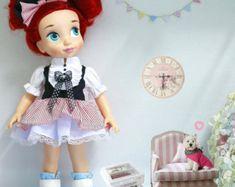Rojo bordado. Ropa de la muñeca para la por RabbitinthemoonThai