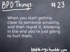 Because I hurt you. And I knew I would. :( I'm sorry.