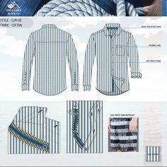 Men's shirt Flat sketches