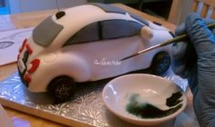 3D Cake VW Beetle with step by step photos