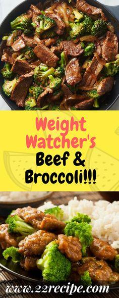 Weight Watcher's Beef & Broccoli!!! - 22 Recipe