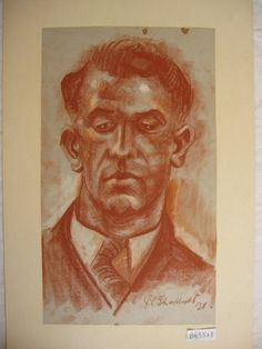 View by Type: Drawing | Jack Shadbolt  portrait of Bill Reid