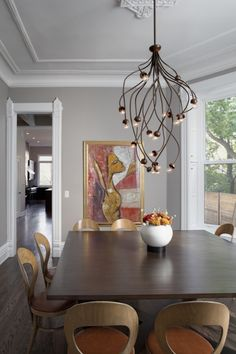 sculptural and organic... this chandelier is stunning.