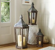 Park Hill Lanterns #potterybarn