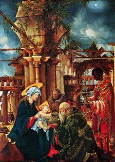 Albrecht Altdorfer - The Adoration of the Magi - Städel - Nativity of Jesus in art - Wikipedia