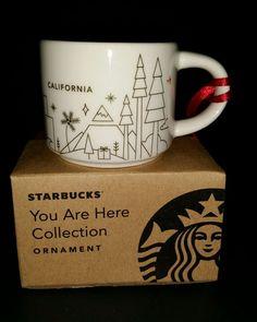 Starbucks You Are Here California Ornament 2 oz Mini Espresso Coffee Mug New NIB #Starbucks