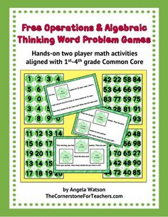 Free hands-on math word problem solving game