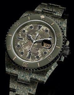 Digital Camo ROLEX Submariner http://shellbacktactical.com/ #tactical, #tacticalgear, #shellbacktactical , #armorcarrier, #platecarrier, #mollepouch, #gear #tactical-gear, #multicam , #trident, #skull, #airsoft, #watch, #rolex