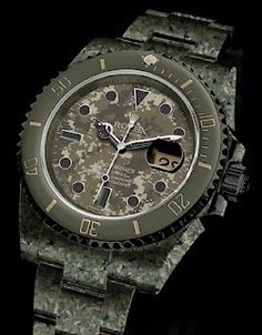 Digital Camo ROLEX Submariner http://shellbacktactical.com/ this is prety sweet
