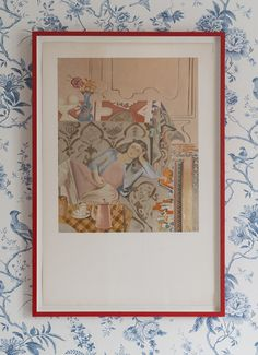 After Balthus, 1973. Lithograph. Framed H81 x W54 cm - hellethygesen.com Victor Brauner, Nicolas Poussin, Painter Artist, Old Master, Vintage Table, Figure Painting, Plates On Wall, Abstract, Frame