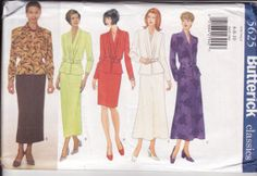 Butterick 5625 Top with Peplum Belt  and Straight by retrochick66, $6.50