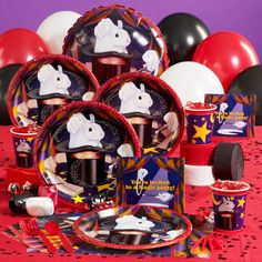 The Magic party set from Birthday Express . (There's plates for just about every theme, isn't there?)
