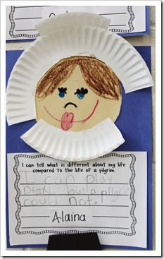 Pilgrims  have student picture -  persuasive write - to be or not to be a pilgrim child