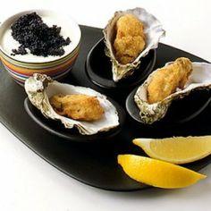 #Receta: #Ostras rebozadas con #caviar | |