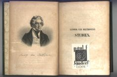 BEETHOVEN STUDIEN, 1853. Frontispiece and Sanders' bookplate.