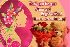 If a wish or gift has touched your heart on #womensday then say #thankyou with this amazing #ecard.