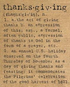 lindasinklings:  thanksgiving.