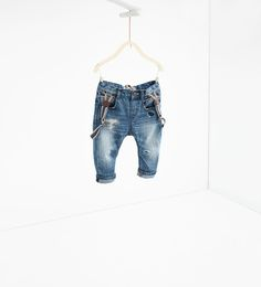 ZARA - KIDS - Carrot fit jeans with braces