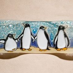 Wavy Fused Glass, Small | Penguin
