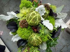 Textural, Natural Bouquet by Chelish Moore.  www.chelishmoore.com