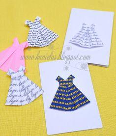 Haniela's: ~Pretty Origami Love Dress Card~