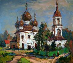 """Russian Master: Mishagin Andrey - """"The Village Of Myt"""" - oil, canvas"""