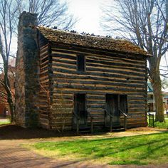 Photo of the Christopher Taylor House (built in 1777) located in historic Jonesboro, TN. The house was moved to this site in 1974 to preserve it from demolition.