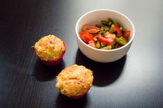 #Maismuffins #Bohnensalat #Rezept #corn #muffin