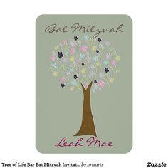 Tree of Life Bar Bat Mitzvah Invitations