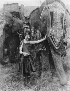 Vintage Circus | Elephant Trainer (1920's)