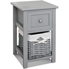 EXQUI Bedside Tables Set of 2 with Drawer Grey Slim Living Room Tables Small Nightstand with Drawers Telephone End Table for Small Space (25x25x70cm), G139H2: Amazon.co.uk: Kitchen & Home Slim Bedside Table, Small Nightstand, Modern Bedside Table, Table For Small Space, Small Spaces, Bedside Cabinet, Gray Bedroom, Bathroom Storage, Storage Baskets