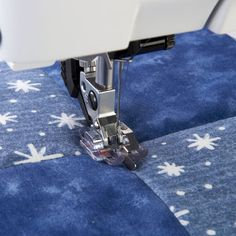 """Pfaff - Clear Stitch-in-Ditch Foot for IDT™ System. The Clear Stitch-in-Ditch Foot gives excellent visibility and is designed to help you achieve perfect quilting on the top of your quilt. The guide rides smoothly over the seam for perfect stitching """"in the ditch""""."""