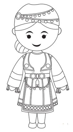 Greek Traditional Clothing Coloring Page (With images