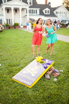 We could play cornhole!!! BBQ Style Rehearsal Dinner