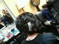 Bridal updo trial, side bun