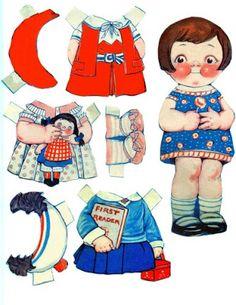 Muñecas de papel recortables - Printables Vintage Paper  dolls