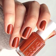 Essie: playing koi nails в 2019 г. nails, autumn nails и bea Orange Nail Polish, Best Nail Polish, Orange Nails, Nail Polish Colors, Fall Nail Polish, Fall Manicure, Fall Nail Colors, Essie Gel, Essie Nail Polish