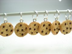 Chocolate Chip Cookie Stitch Markers Set of 15 by beadpassion, $14.00