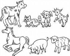 """Színező """"háziállatok és a babák"""" letölteni és kinyomtatni ingyen"""